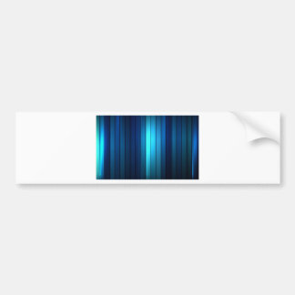 SHADES OF BLUE ABSTRACT ART DESIGN BUMPER STICKER