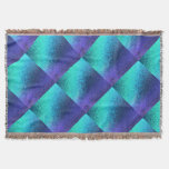 Shades of Blue Abstract Throw Blanket
