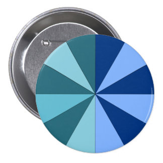shades of blue and green pinback button