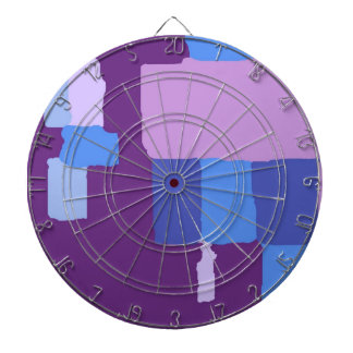 Shades of Blue and Purple Dart Board