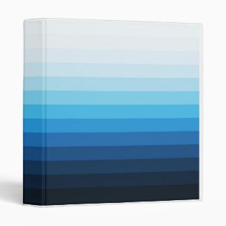 Shades of Blue Binder