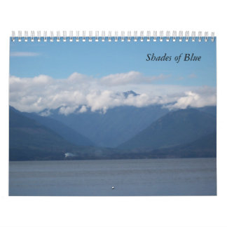 Shades of Blue Calendar