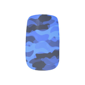 Shades of Blue Camouflage Minx® Nail Wraps