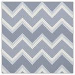 Shades of Blue Chevron Striped Fabric