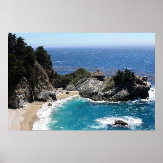 Shades of Blue - Coastal Landscape Photo Poster