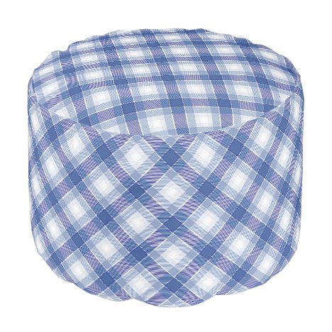 Shades of Blue Color Palettes Seamless Tartan Pouf