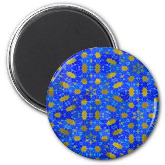 Shades of Blue design Fridge Magnets