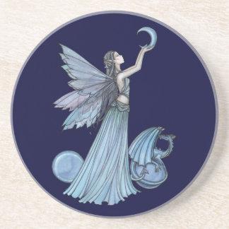 Shades of Blue Fairy Dragon Coaster
