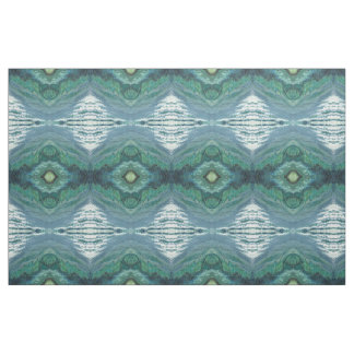 Shades of Blue Grey White & Green Fabric by the YD