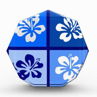 shades of blue hibiscus design awards