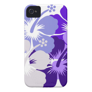 Shades of blue hibiscus design iPhone 4 cover