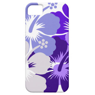 Shades of blue hibiscus design iPhone SE/5/5s case