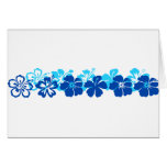 Shades of blue hibiscus greeting card
