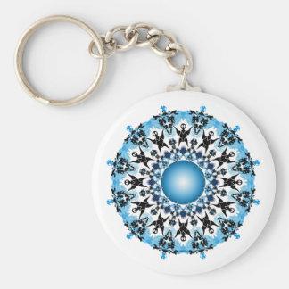 Shades of Blue Key Chain