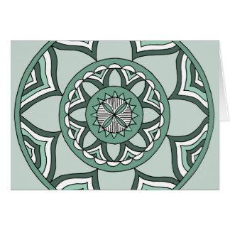 Shades of Blue Mandala Greeting Cards