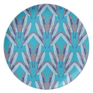 Shades Of Blue Melamine Plate