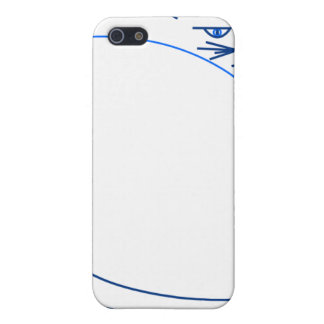 Shades of Blue Minimalist Cat (Speck Case) iPhone 5 Covers