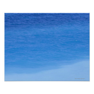 Shades of blue ocean, Rhodos, Greece Poster