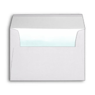 Shades of Blue Ombre Watercolor Lined Envelope