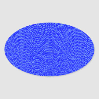 Shades of Blue Oval Sticker