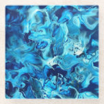 """Shades of Blue Part Two Glass Coaster<br><div class=""""desc"""">Shades of Blue Part Two Glass Coaster</div>"""