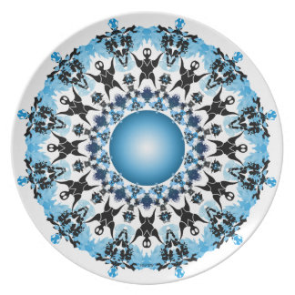 Shades of Blue Plate