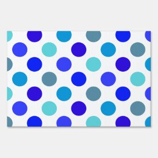 Shades of Blue Polka Dots Sign