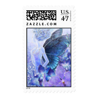 Shades of Blue Postage Stamp