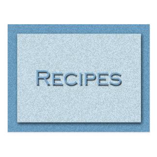 Shades of Blue Recipe Card