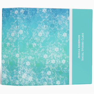 Shades Of Blue School Binder