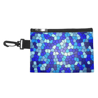 Shades Of Blue Stained Glass Accessory Bag