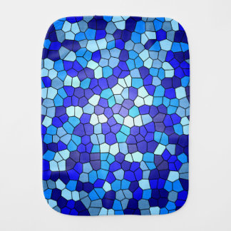 Shades Of Blue Stained Glass by Shirley Taylor Baby Burp Cloth