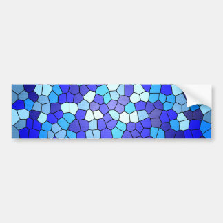 Shades Of Blue Stained Glass by Shirley Taylor Bumper Sticker