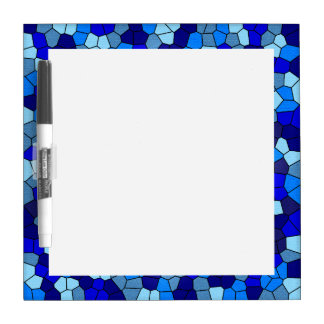 Shades Of Blue Stained Glass by Shirley Taylor Dry-Erase Board