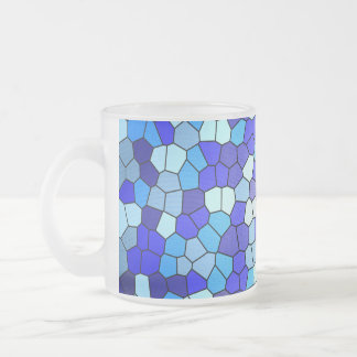 Shades of Blue Stained Glass by Shirley Taylor Frosted Glass Coffee Mug