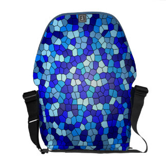Shades Of Blue Stained Glass Courier Bag