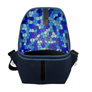 Shades Of Blue Stained Glass Messenger Bag
