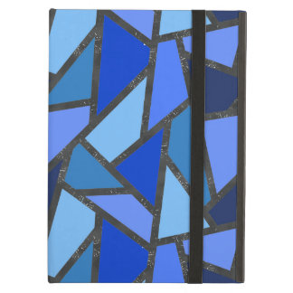 Shades of blue stained glass pattern case for iPad air