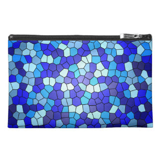 Shades Of Blue Stained Glass Travel Accessory Bag