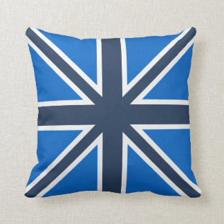 Shades of Blue Union Jack Pillow