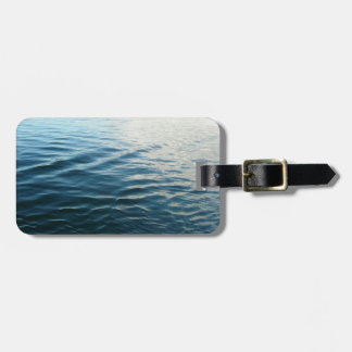 Shades of Blue Water Abstract Nature Photography Bag Tag