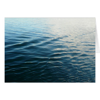 Shades of Blue Water Abstract Nature Photography Card