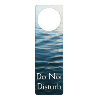 Shades of Blue Water Abstract Nature Photography Door Hanger