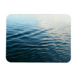 Shades of Blue Water Abstract Nature Photography Magnet