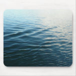 Shades of Blue Water Abstract Nature Photography Mouse Pad