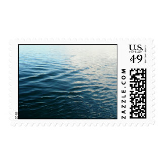 Shades of Blue Water Abstract Nature Photography Postage Stamp