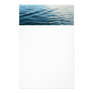 Shades of Blue Water Abstract Nature Photography Stationery