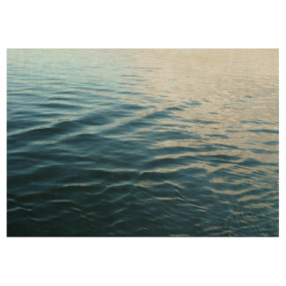 Shades of Blue Water Abstract Nature Photography Wood Poster