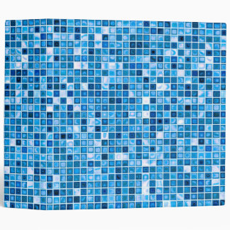 Shades Of Blue 'Watery' Mosaic Tiles Pattern Binder