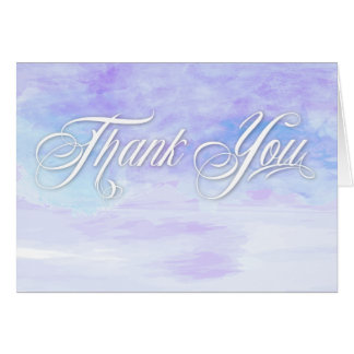 SHADES OF BLUES WATERCOLOR THANK YOU CARD